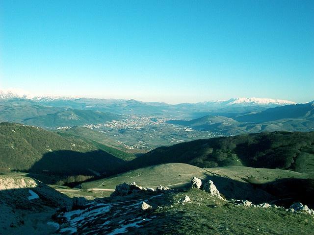 L'Aquila ... vista da Monte Calvo.