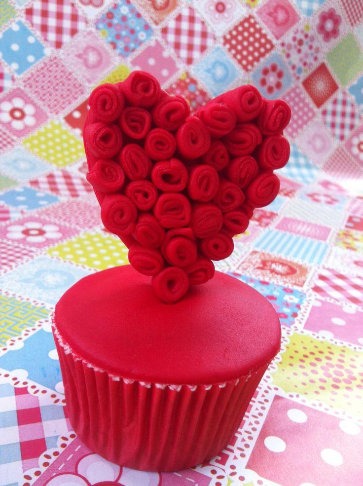 Corazón de Rosas cupcake
