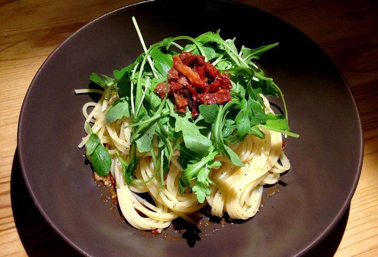 Hot spaghetti with rocket / Pikantne spaghetti z rukolą