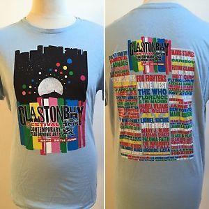 GLASTONBURY 2015 T Shirt Size Large KANYE WEST FLORENCE MOTÖRHEAD  | eBay