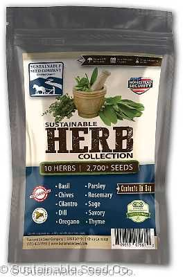 This is a collection of 10 different essential herbs that any good chef will love to have growing out of their back yard!  In this package you get:Basil, thyme, oregano, chives, sage, parsley, cilantro/coriander, savory, rosemary, and dill!  This package is priced at 25% off regular price, so you're not only getting a great herb garden that the chef in your family will love, you're also saving money - which EVERYONE loves!