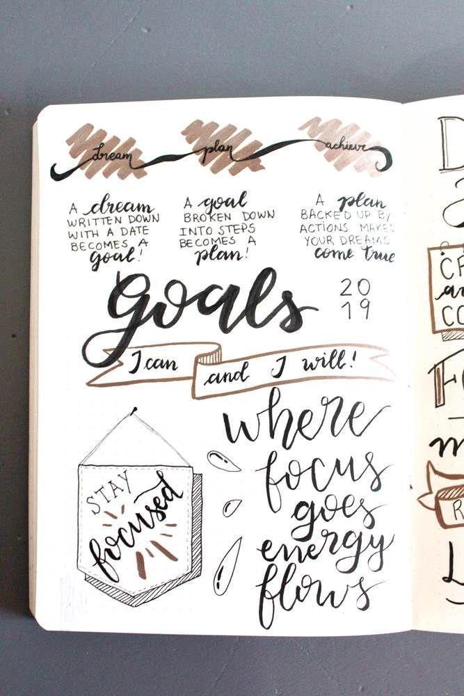 Bullet Journal Ideas: Bullet Journal Vision Journal (Create A Journal Vision