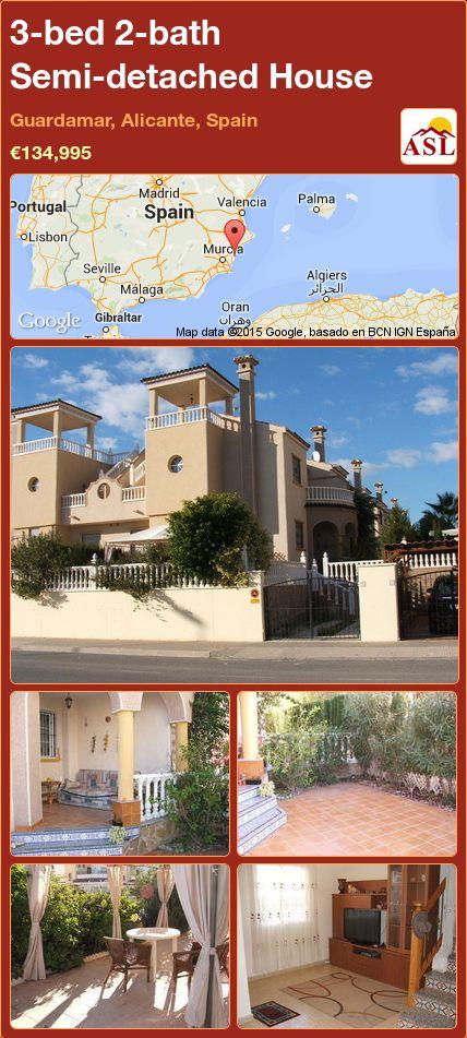 3-bed 2-bath Semi-detached House in Guardamar, Alicante, Spain ►€134,995 #PropertyForSaleInSpain