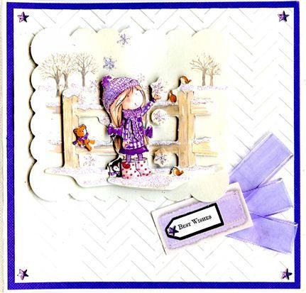Tilly Daydream A4 Decoupage - Swing, Embossalicious Chevrons embossing folder.