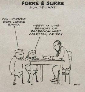 Fokke en Sukke zijn te laat (Facebook)