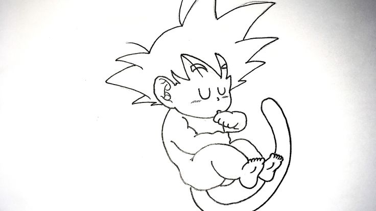 Dibujos Para Colorear Goku Para Imprimir: Imagenes De Goku Bebe Para Dibujar