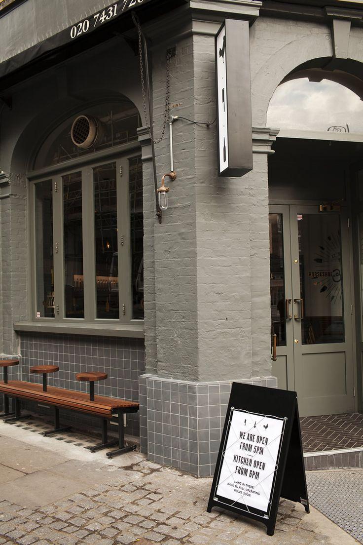 The Horseshoe — Hampstead, London #black #a-board #sandwichboard