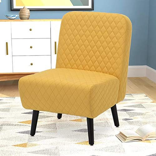 Amazing offer on Armless Accent Chair Modern Muted Fabric ...