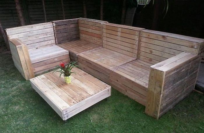Pallet Garden Furniture, How To Make Skid Patio Furniture