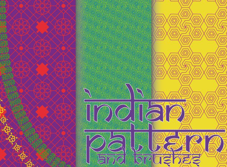 A paint brush that paints Indian Patterns on walls. !