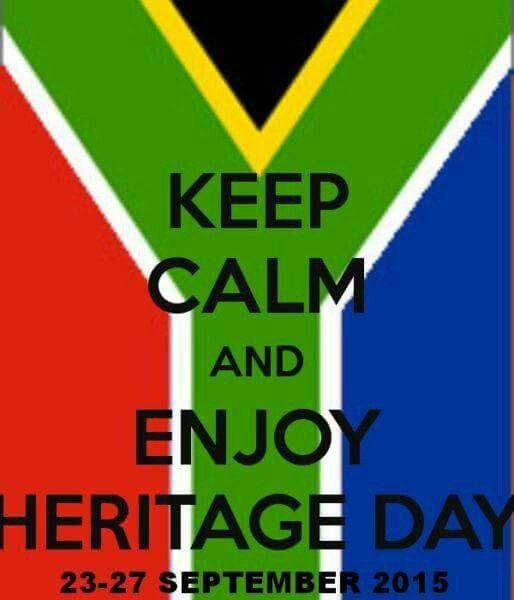 Enjoy Heritage Day/Weekend!!!