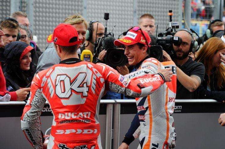 Dovizioso, Marquez, Dutch MotoGP Race 2014