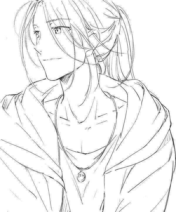 Hika Yoi垢 On Twitter Anime Lineart Cool Art Drawings Anime Boy Sketch