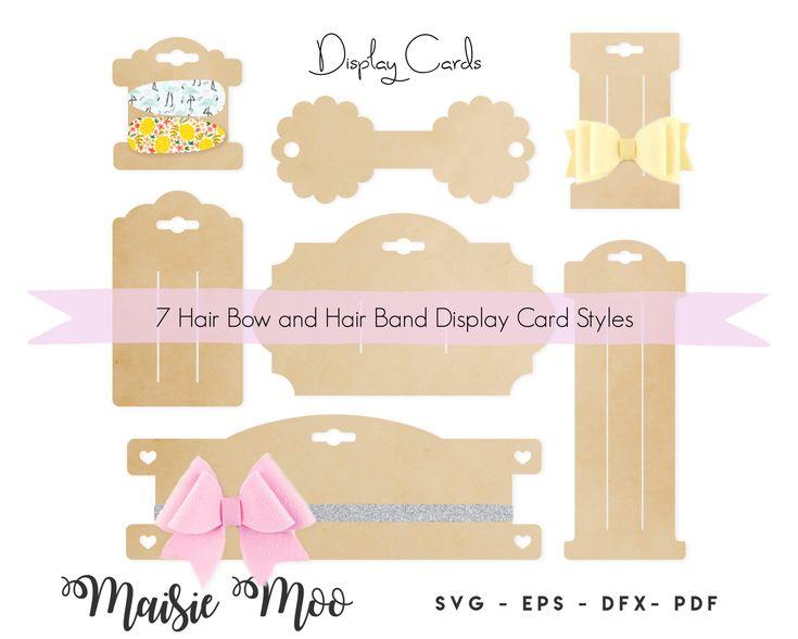 Bow Card Svg Bundle Bow Display Card Hair Clip Card Dxf Bow Etsy Bow Display Display Cards Hair Bow Display