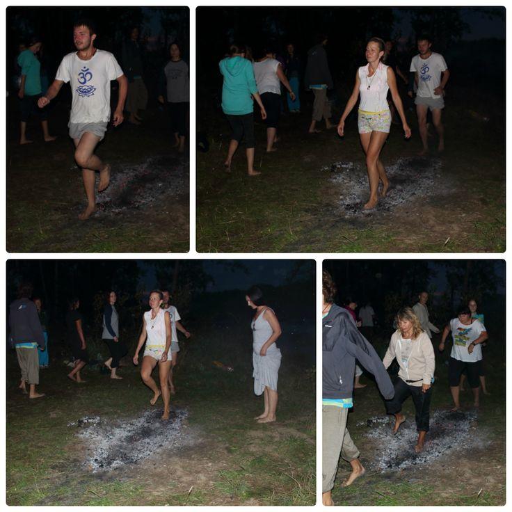 walking on coals