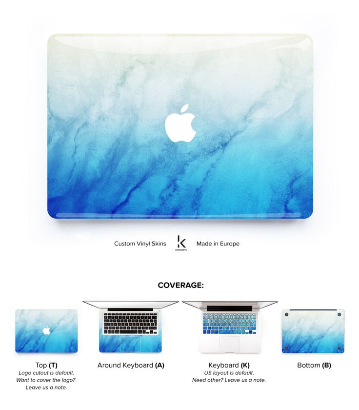 Blue Beige Patina MacBook Skin at Keyshorts.com