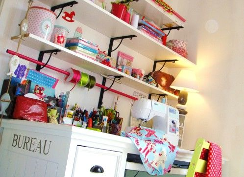 Le coin couture de Sweet & Poppie inspiré par l'Atelier de Tilda...