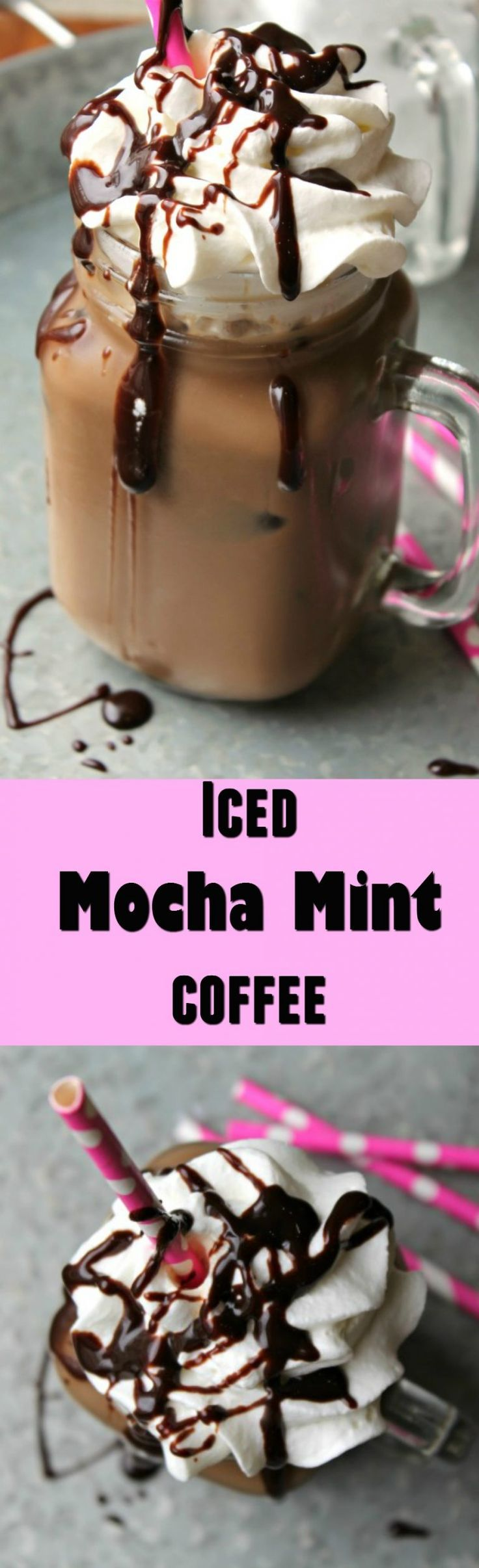 Iced Mocha Mint Coffee  -  My at home take on a coffee shop favorite.  Mine is made easily and at a fraction of the cost of a coffee shop.  @walmart #FoundMyDelight @indelight  #ad