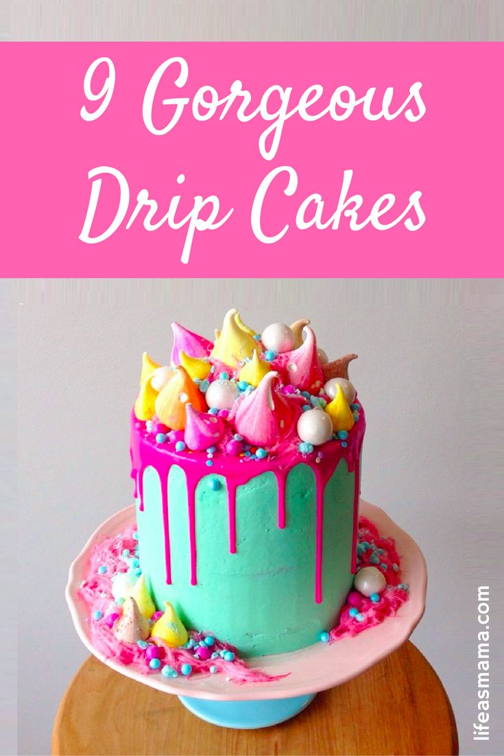 After seeing these drip cakes, I NEED to make one! They are so beautiful and creative!