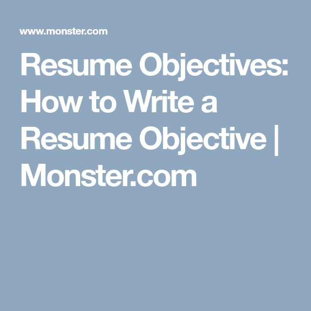 The  Best Resume Objective Ideas On   Good Objective