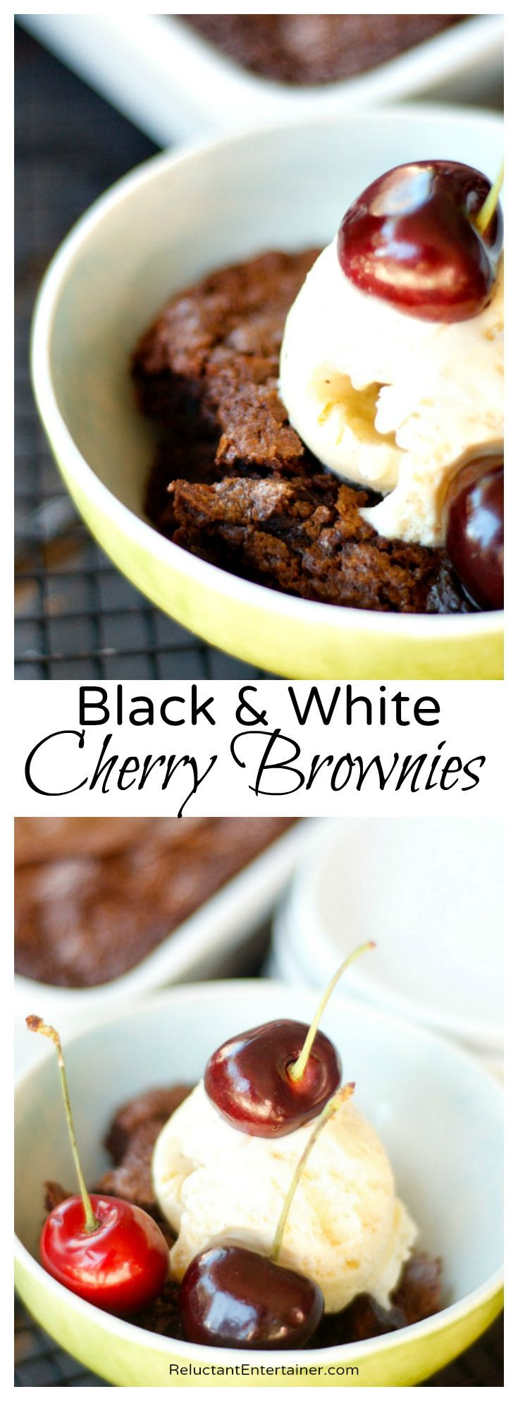 Black and White Cherry Brownies Recipe