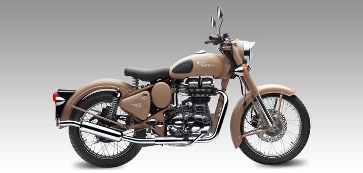 Classic desert Storm  Reminiscent of the war era, a time when Royal Enfield motorcycles proved their capabilities and battle worthiness by impeccable service to soldiers in harsh conditions of the desert. ETERNALLY CLASSIC BULL