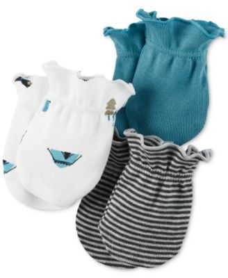 Carter's Baby Boys' 3-Pack Little Wild One Mitts