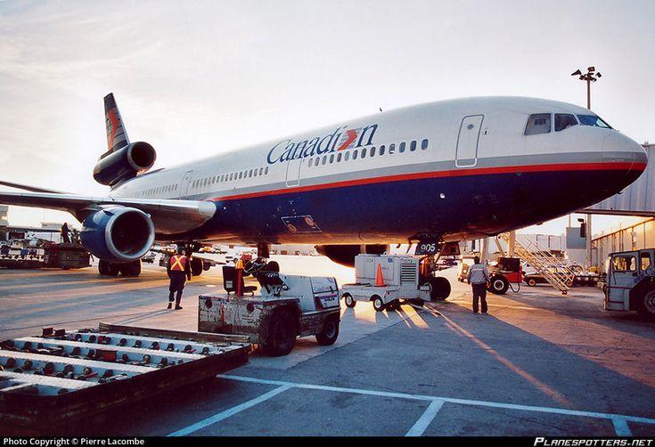 Canadian Airlines International McDonnell Douglas DC-10-30ER C-GCPG casting a shadow at Montréal-Dorval, October 1998. (Photo: Pierre Lacombe