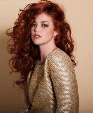 Glamouröse Kupfer Haare und Gold - wow!