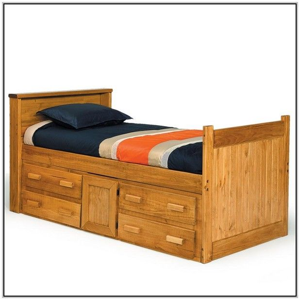 Oak Captains Bed Solid Oak Captains Bed Twin Beds And Bed