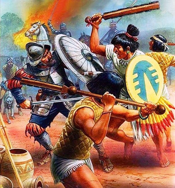 """""""Ciudades de Oro""""--Los Conquistadores  contra los Aztecas."""