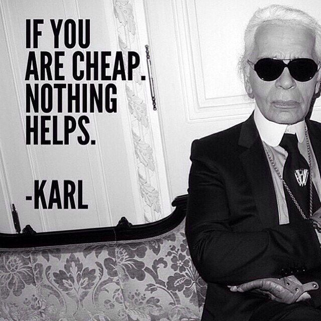 If you are cheap, nothing helps.