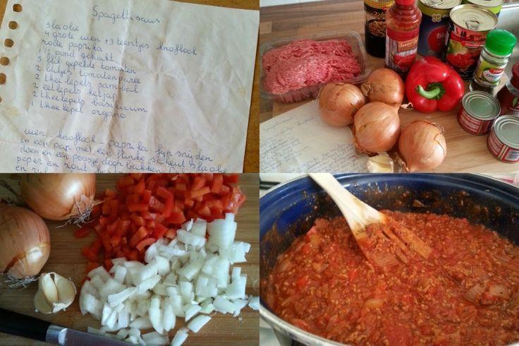 Goedemorgen! Wij zijn gek op pasta, dus toen Terray ons haar recept voor spaghettisaus stuurde kregen we spontaanhonger. Wij duiken dit weekend de keuken in om deze lekkere spaghettisaus te maken.Heb jij ook een lekker en simpel gerecht?Stuur je recept (met foto) dan naarinfo@lekkerensimpel.comof stuur je recepthierin. Recept voor circa 5 personen Tijd: 30 min....Lees Meer »