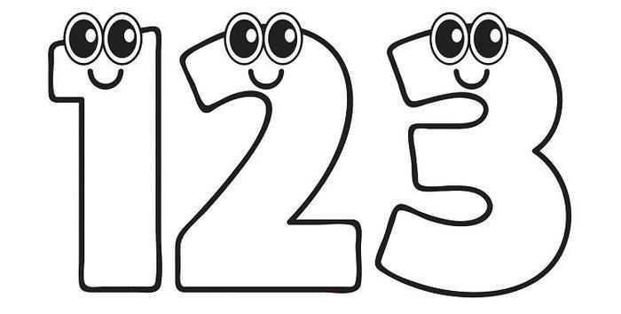 Numbers Clipart Coloring Pages Coloring Pages Clip Art Coloring Pages For Kids