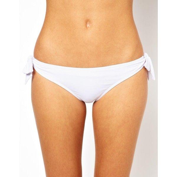 Pour Moi Fiji Tie Side Bikini Bottom ($12) ❤ liked on Polyvore featuring swimwear, bikinis, bikini bottoms, white, white bikini bottoms, pour moi swimwear, pour moi bikini, white bikini and swim bikini bottoms