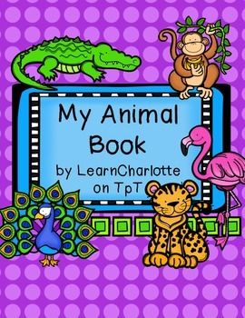 My Animal Book - students use this animal book to research and animal ...
