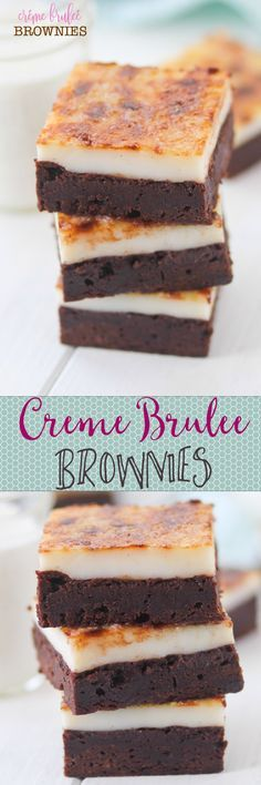 Creme Brulee Brownies -- two of my favorite desserts in ONE!! Omg almost too good to be true :)