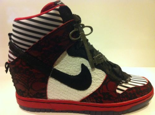 pretty nice fcca5 45040 ... Womens Nike Dunk Ski Hi DB Black Red white Doernbecher Kira 639396-061  SZ 7 shoes ...