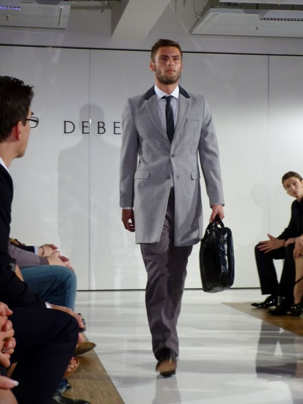 Model at the Debenhams Fashion Show in Munich - Sept 2012 - http://olschis-world.de/  #Debenhams #Menswear #fashion