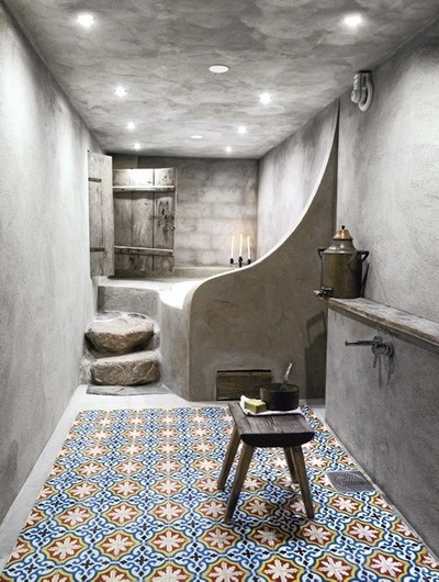 Decorative tile. Interesting contrast.