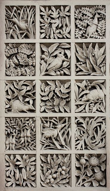 Panel of Australiana motifs, former South Yarra Post Office, Melbourne, Designed by AJ MacDonald, 1892-3.