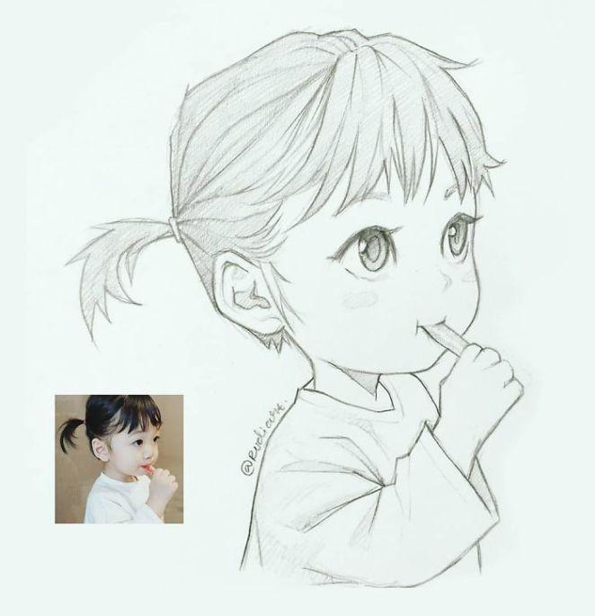 Indonesian Artist Sketches Real People As Cartoons Stumblor Cartoon Drawings Of People Anime Drawings Sketches Artist Sketches