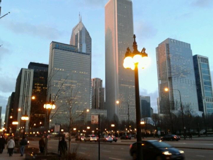 Chicago at sunset