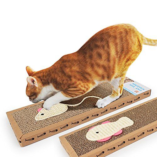ClothingTalks Pet Cat Kitten Scratch Scratcher Board Pad Mat Print Mouse  Fish Design Bed Claws Care Cat Training Toy >>> Find out more about the great product at the image link.