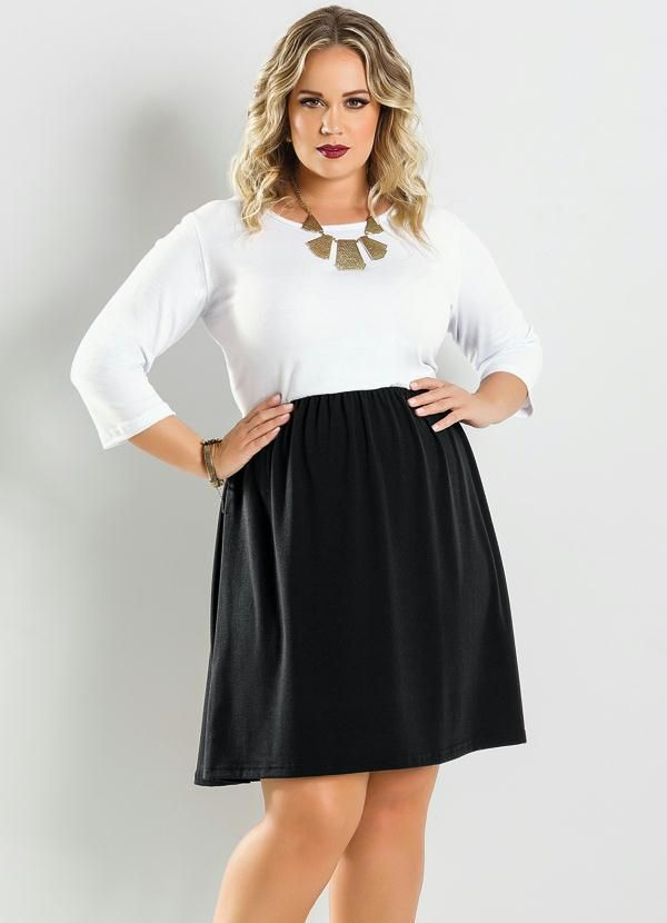 Create an ultra chic silhouette with a lighter colored bodice and darker colored skirt. This  A-line shape and color portion, lengthens out your frame as well as adds a bit of vintage glam!