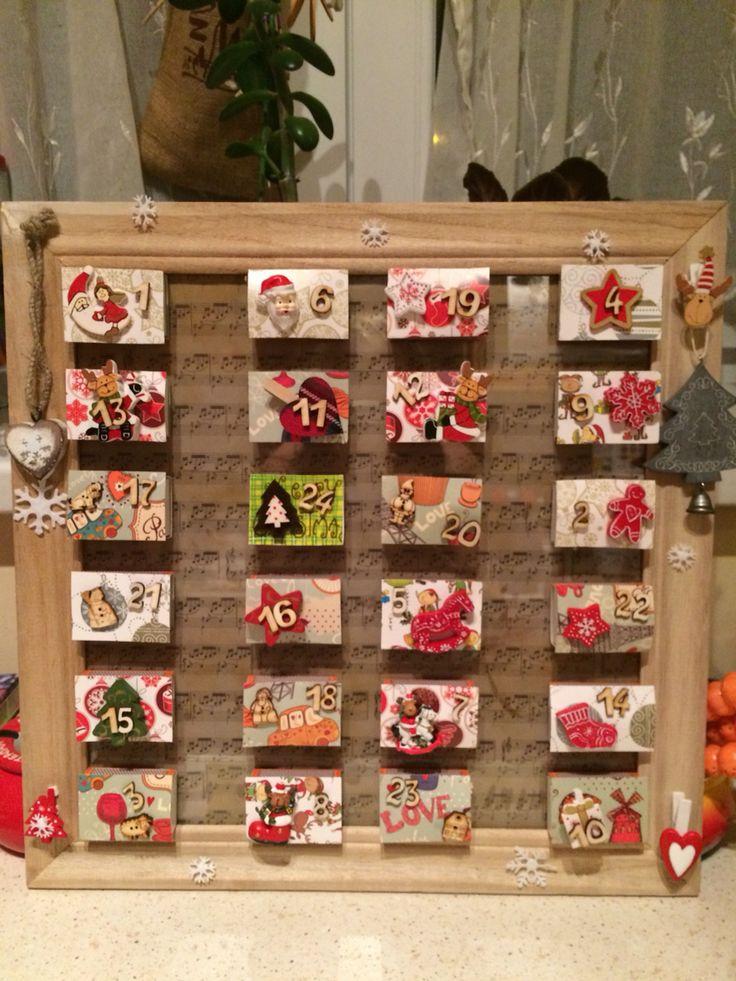 Adventi naptár gyufásdobozból- advent calendar from match boxes