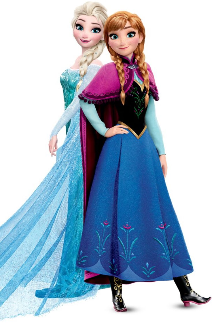Princess Anna and Queen Elsa of Arendelle - Disney's Frozen ❄️  They look so cute together
