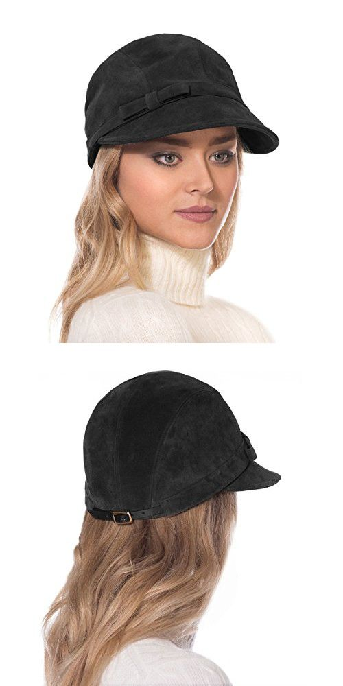 1414a1b7 Eric Javits Luxury Fashion Designer Women's Headwear Hat - Suede Cap - Black