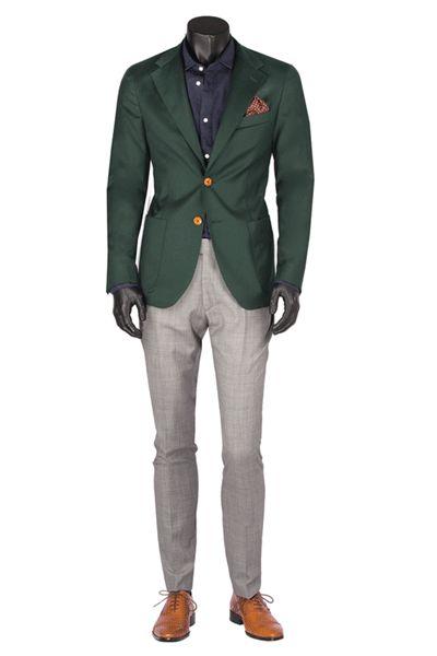 Casual classy green blazer