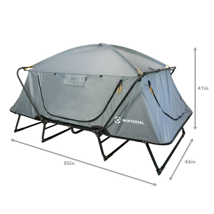 2 person tent cot with dimensions for a double tent cot